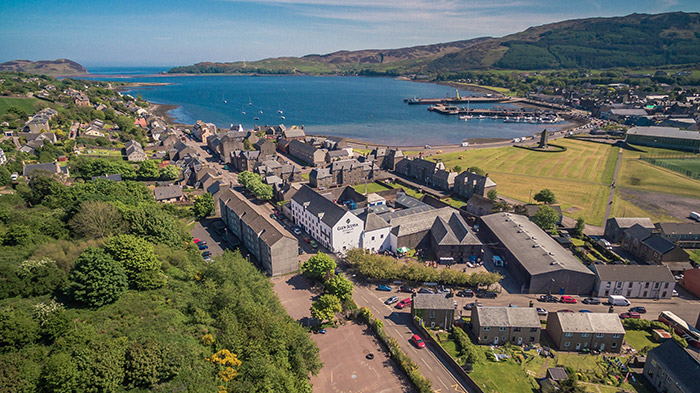 Aerial view of Glen Scotia