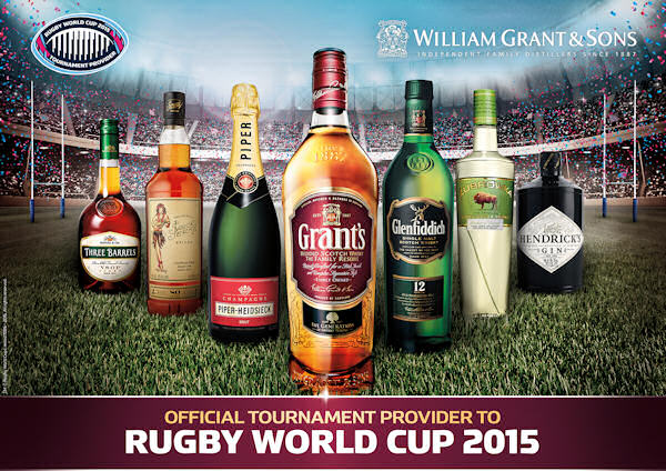 William Grant & Sons Named Official Spirits & Champagne Tournament Provider Of Rugby World Cup 2015 :: 2nd July, 2015