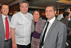 Scott Dickson, UK Brand Manager Maxxium, Richard Corrigan of Corrigan's Mayfair, Catherine Gazzoli, CEO of Slow Food UK, Gerry Tosh, Ambassador of Highland Park