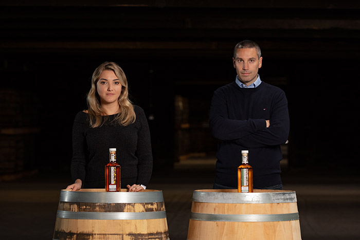 Larissa Marrichi and Finbarr Curran of Irish Distillers