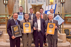The awards for the team at Irish Distillers - Irish Distillers Sweeps The Board At Icons Of Whiskey Awards 2012 - 26th March, 2012