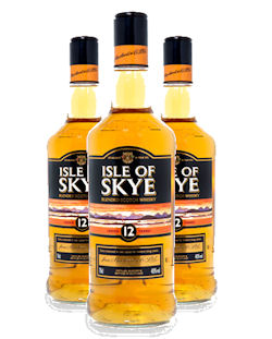 3 bottles of the 12 Year Old Isle of Skye
