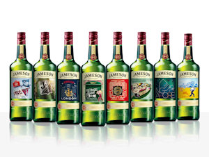 Jameson launches new city editions travel retail exclusive