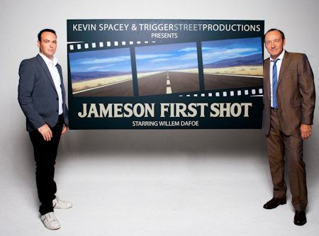 Dana Brunetti, President of Trigger Street Productions, with Kevin Spacey