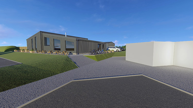 3D render of the new micro Scotch whisky distillery set to open in John O'Groats in 2021