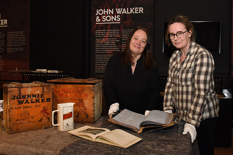 Rare Johnnie Walker historical 'crown jewels' displayed for first time: Kilmarnock museum hosts unique display on roots of the Scotch whisky brand
