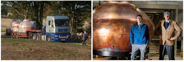 Kingsbarns Distillery Welcomes Copper Pot Stills | Wemyss Malts | 4th October, 2014