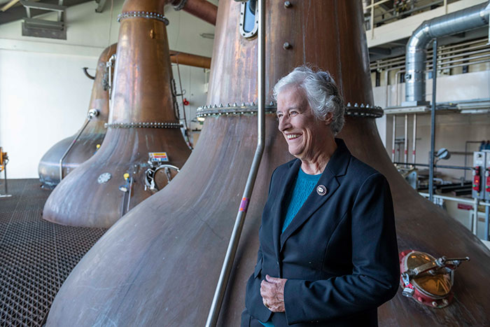 Distiller's daughter (Nora Fraser) takes trip down memory lane to mark 80th birthday at Linkwood Distillery