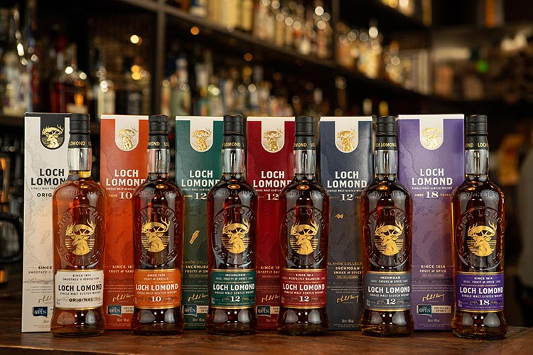 Loch Lomond Whiskies has unveiled a complete brand refresh throughout Domestic and Global Travel Retail single malt Scotch whisky ranges.