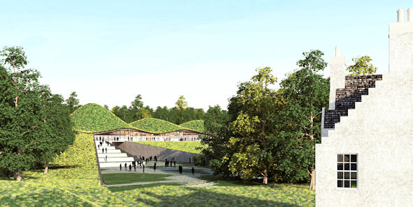 Artist Impression of new Macallan distillery and Visitors Centre