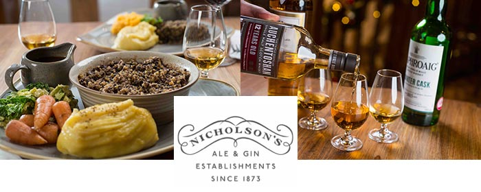 Burns Night 2018: Nicholson's pubs announce 2018 whisky showcase & burns night celebrations: 11th January, 2018