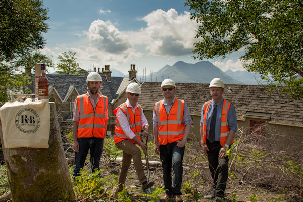 R&B Distillers break ground on Raasay :: R&B plan to open, and begin production, in April 2017 :: 13th June, 2016