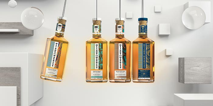 METHOD AND MADNESS, Irish Distillers' new and experimental range of super premium Irish whiskeys