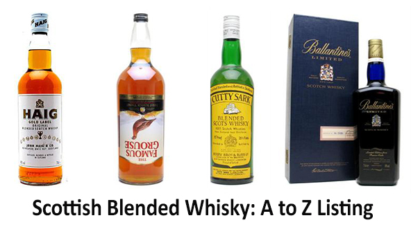 Scottish Blended Scotch Whiskies A To Z Listing
