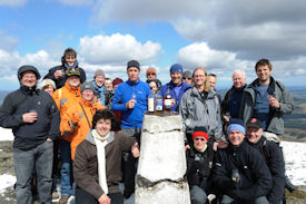 Revellers will go to great lengths to get tickets for the Spirit of Speyside Whisky Festival…and this group of visitors from the 2013 went to great heights by climbing to the top of Ben Rinnes to enjoy a guided walk, dram and stunning scenery.