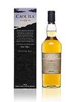 Caol Ila 18 Year Old 2017 Release Single Malt Whisky