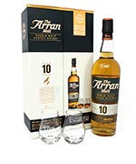 The Arran Malt 10 Year Old Single Malt Scotch Whisky Special Edition Glass Pack