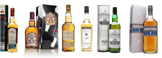 A collection of whisky for St Andrews Day - 30th November