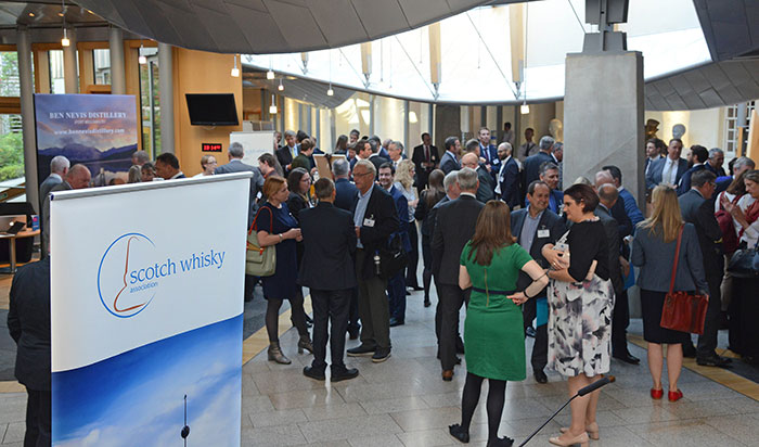 A reception at the Scottish Parliament on 4th September, MSPs joined the industry to celebrate the success story Scotch Whisky