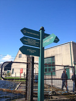 Sign at the back of the Glenlivet Distillery