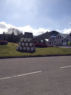 View from the road at The Glenlivet Distillery