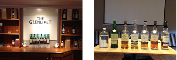 Whisky tasting at The Glenlivet bar