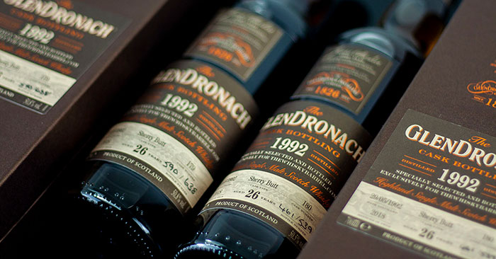 The GlenDronach 26 Year Old 1992 Exclusive Cask #179 and Cask #180.
