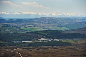 View around the famous Tomatin Distillery