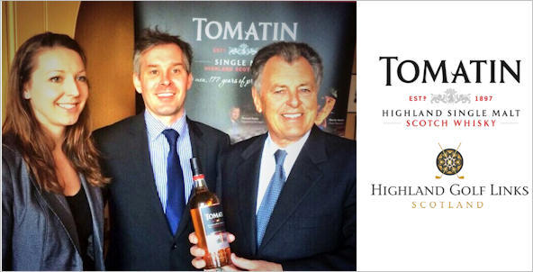 Photo taken 17.04.14 - Jennifer Nicol (Marketing Manager, Tomatin), Stephen Bremner (Sales Director, Tomatin), Bernard Gallagher