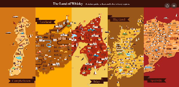 Visit Scotland Interative Whisky Map