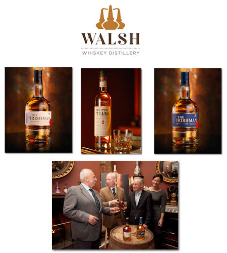 Walsh Whiskey Distillery - The Irishman and Writers Tears