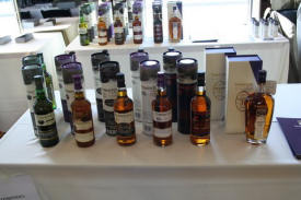 A selection of whiskies at one of the previous show - Whiskies of the World Expo