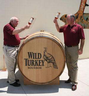 Wild Turkey Jimmy and Eddie Russell Christen Wild Turkey Barrel