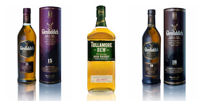 Glenfiddich and Tullamore brands from William Grant & Sons